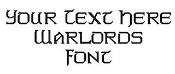 Warlords Font Decal