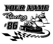 Personalized Go Kart Racing v1 Decal Sticker