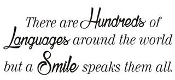 Hundreds of Languages, Smile Speaks them All Decal