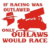 If Racing Was Outlawed Decal Sticker