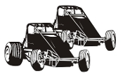2 Wingless Sprints Decal Sticker