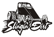 Slingin Dirt - Wingless Sprint Car Decal Sticker