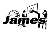 Personalized Basketball Name Decal Sticker