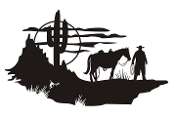 Cowboy Western Scene v1 Decal Sticker