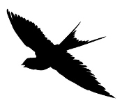 Barn Swallow Silhouette Decal Sticker