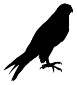 Peregrine Falcon Silhouette Decal Sticker