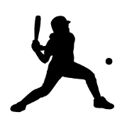 Softball Hitter Silhouette v1 Decal Sticker