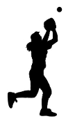 Softball Player Silhouette v1 Decal Sticker