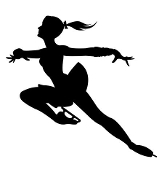 Figure Skater Silhouette v9 Decal Sticker