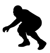 Football Player Silhouette v4 Decal Sticker