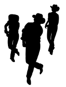 Line Dancing Decal Sticker