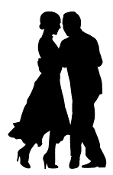 Tango Dance Silhouette Decal Sticker