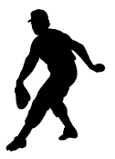 Baseball Pitcher Silhouette v2 Decal Sticker