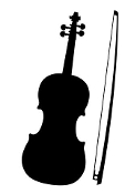 Fiddle Silhouette Decal Sticker