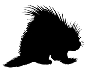 Porcupine Silhouette Decal Sticker