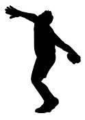 Discus Thrower Silhouette Decal Sticker