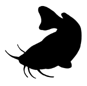 Catfish Silhouette v3 Decal Sticker