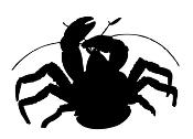 Crab Silhouette v7 Decal Sticker