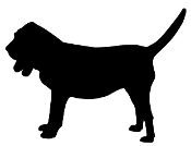 Bloodhound Silhouette Decal Sticker