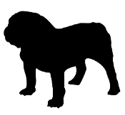 Bulldog Silhouette v2 Decal Sticker