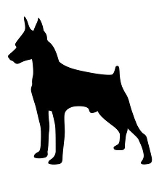 Doberman Silhouette v3 Decal Sticker
