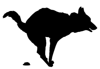 Dog Pooping Silhouette Decal Sticker
