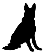 German Shepherd Silhouette Decal Sticker