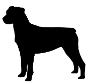 Rottweiler Silhouette Decal Sticker