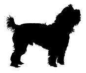 Yorkie Silhouette Decal Sticker