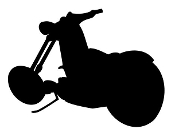 Chopper Silhouette v3 Decal Sticker