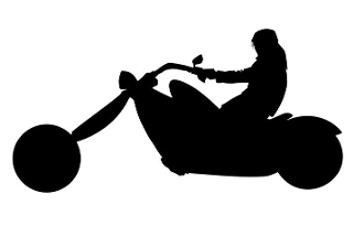 Chopper Silhouette v6 Decal Sticker