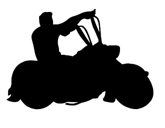 Motorcycle Silhouette v6 Decal Sticker