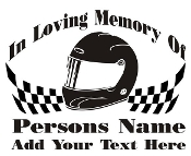 Racing Memorial v3 Decal Sticker