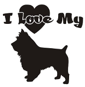 I Love My Terrier Decal Sticker