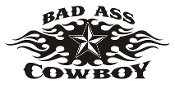 Bad Ass Cowboy v2 Decal Sticker