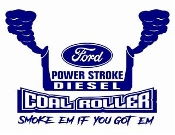 Power Stroke Coal Roller v8 Decal Sticker