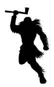 Native American Warrior Silhouette Decal Sticker