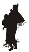 Native American Woman Silhouette Decal Sticker