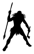 Native American Warrior Silhouette v2 Decal Sticker