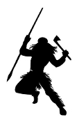 Warrior Silhoutte v3 Decal Sticker
