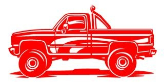 4x4 Truck Decal Sticker