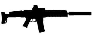 ACR Tactical Machine Gun Silhouette Decal Sticker