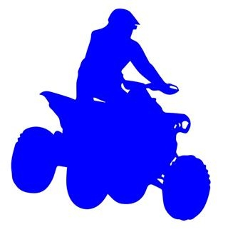 ATV Silhouette v6 Decal Sticker