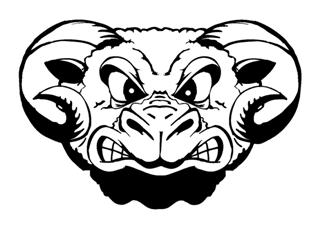 Angry Ram Head Decal Sticker