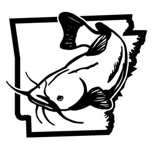 Arkansas Catfish v2 Decal Sticker