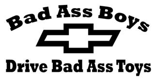 Bad Ass Boys Chevy Decal Sticker