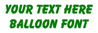 Balloon Font Decal Sticker