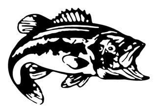 Bass 3 Decal Sticker