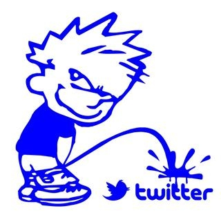 Boy Piss on Twitter Decal Sticker