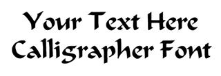 Calligrapher Font Decal Sticker